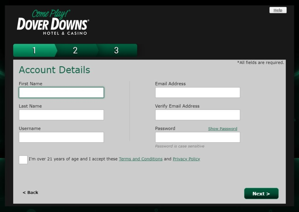 Dover Downs Registration